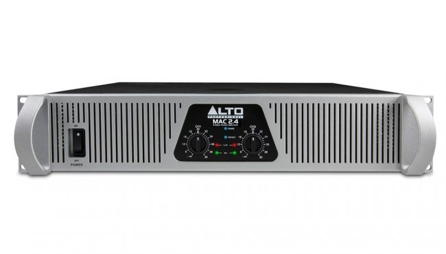 Alto MAC 2.4 2 Channel Power Amplifier  Experience the performance-ready power of this compact amplifier. The Alto Professional MAC 2.4 produces up to 3100 Watts of live sound power in a rugged, 2U rack-mountable, fan-cooled package. Designed for heavy-duty applications, the MAC 2.4 provides a robust output and a tremendous value unlike anything in its class.
