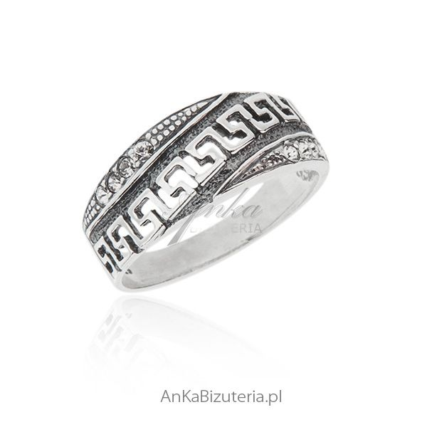 srebrny pierścionek oksydowany od AnKa Biżuteria