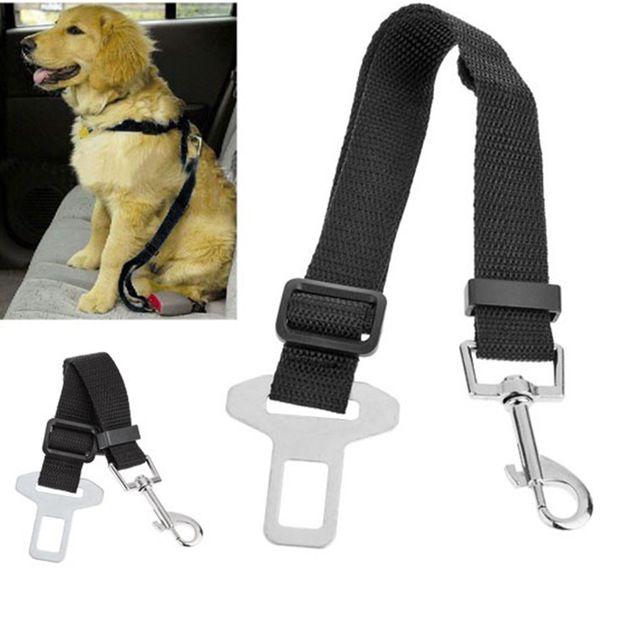 1 unids ajustable Cat Pet cinturón de seguridad del coche collares para mascotas plomo correa Clip de viajes arnés de seguridad del coche envío gratis