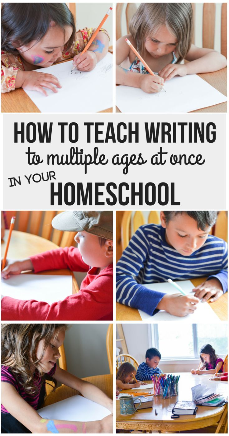 How to Teach Writing to multiple ages at once in your homeschool | writing curriculum | writing program | elementary writing | brave…