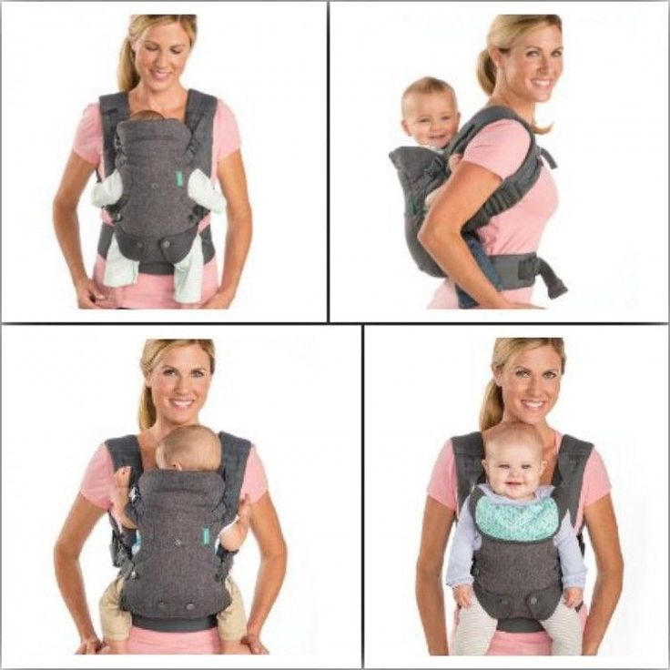 Safe Infant Carrier Comfortable Adjustable Baby Soft Warm Sling Seat 4 In 1 Grey #BabyCarrier