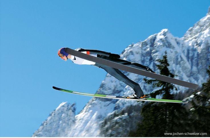 Das Gefühl von der Schanze zu springen und mit den Skiern zu fliegen, ist wahrscheinlich unbeschrieblich. Also los geht's! #skispringen #ski #fliegen #abenteuer #action #adrenalin #outdoor #bucketlist