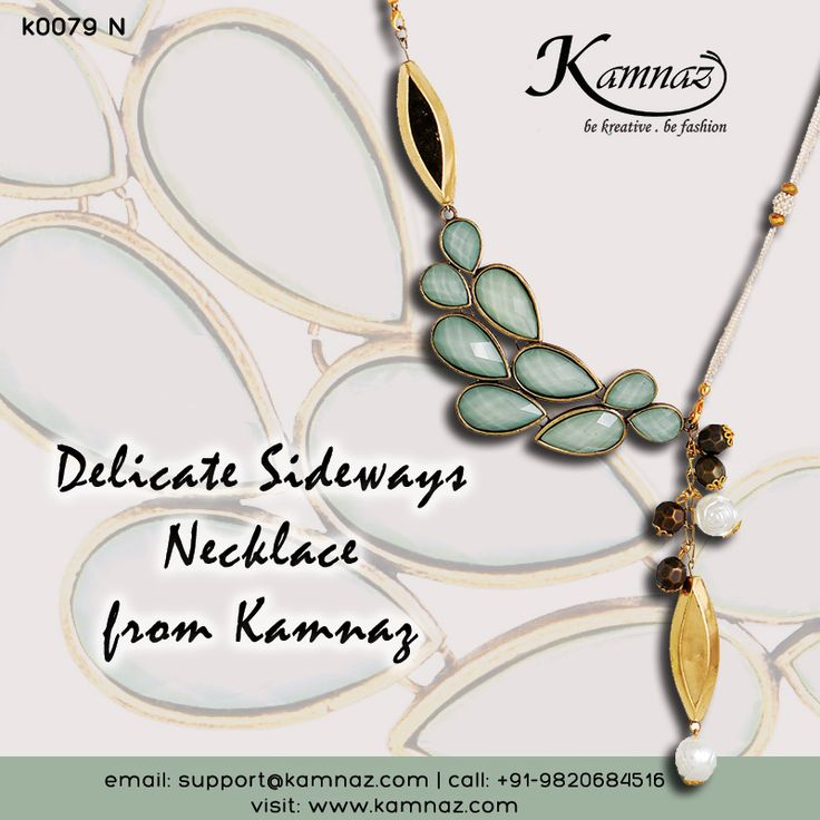 SIDEWAYS NECK PIECES ARE HOT & TRENDING! #KamnazJewellery for prices contact support@kamnaz.com OR you can call or whatsapp on +91-9820684516 #sideways #sidewaysnecklace #sidewayspendant #necklace #ecommerce #chic #jewellery #handmadejewellery #indochicjewellery #designerjewellery #fashionjewellery #jewelry #mumbai #fashion #exclusive #casual #lightweight #kamnaz #accessory #women #instafashion #instalook #handmade — feeling creative.