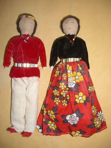 Vintage handmade Navajo cloth Native American Indian dolls
