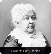 """Elizabeth Cady Stanton  The word """"suffrage"""" means """"voting as a right rather than a privilege."""" Suffrage has been in the English language since the Middle Ages. Suffrages originally were prayers. Then the meaning was extended to requests for assistance, then the assistance provided by a supporting vote, and finally the vote itself. Therefore, in 1787 the Constitution used suffrage to mean """"an inalienable right to vote.""""    And the right to vote was what advocates of women's equality sought."""