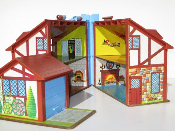 Vintage 1980 Fisher Price Open/Close Toy House with by VintageTab, $25.00