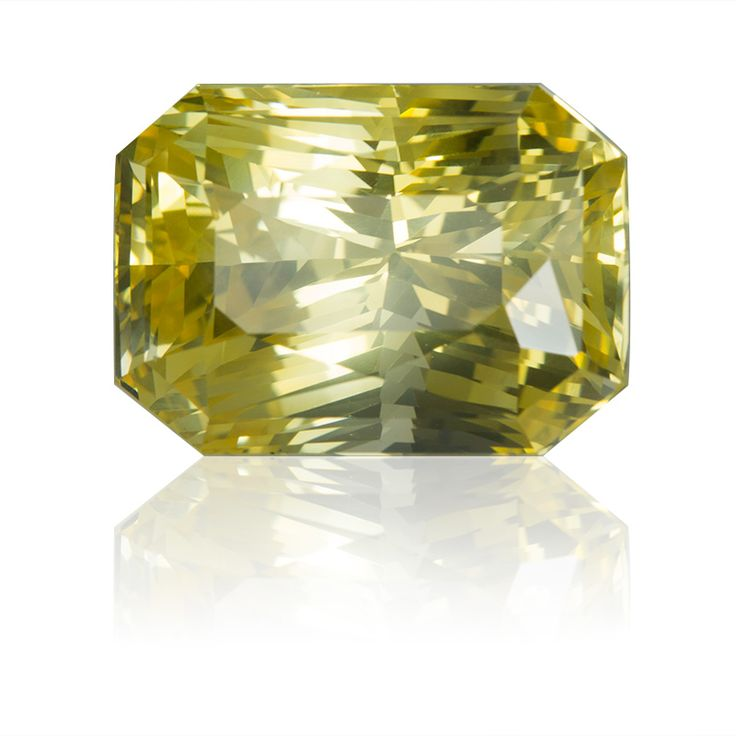 Ceylon Yellow Sapphire Radiant 38.50ct - 20.0X14.4X14.1mm - SKU# 160518 - An outstandingly awesome natural yellow sapphire from our superb collection of gems.