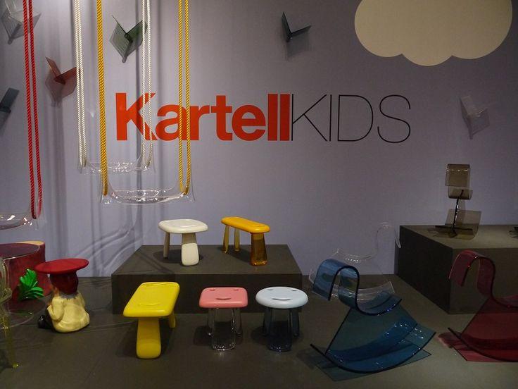 The new Kids collection by Kartell at Milan Design Week 2016    http://www.malfattistore.it/en/2016/04/malfattistore-milan-design-week-2016/   #kartell #malfattistore #onlinestore #kidsdesign #homedecor #italiandesign