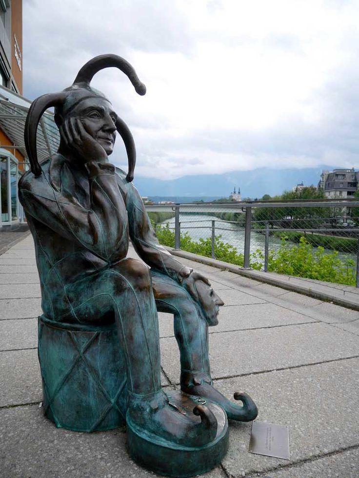 Statue of Carnival Fool, Villach, Austria | A short guide to Villach, Austria | Laugh Travel Eat