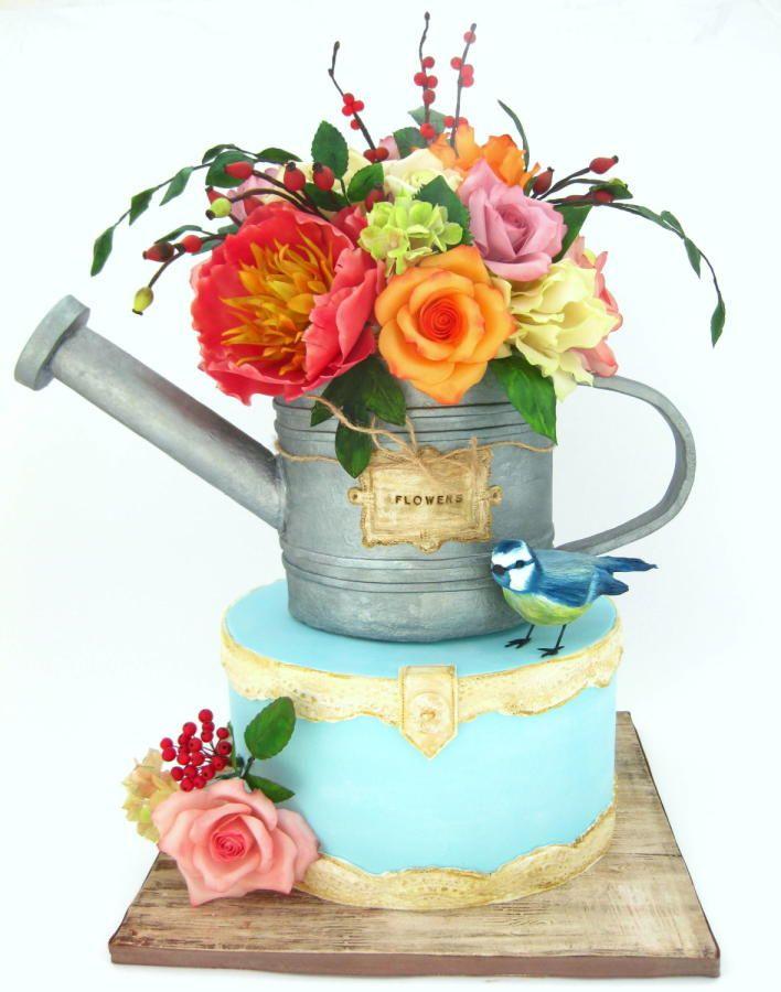 Watering can cake - Cake by Mina Bakalova