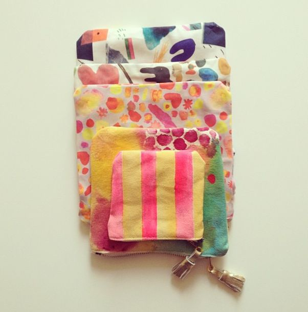 on sale! Handmade funky pouches, www.babasouk.ca
