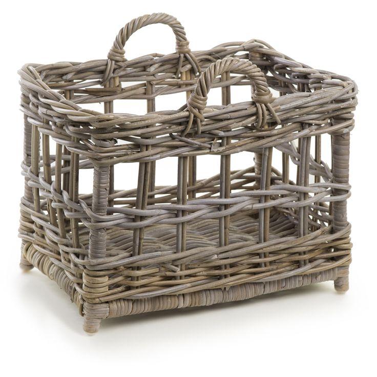 Beautiful Rectangular Kubu Wicker Tote Baskets | The Basket Lady.#Basket #wicker basket