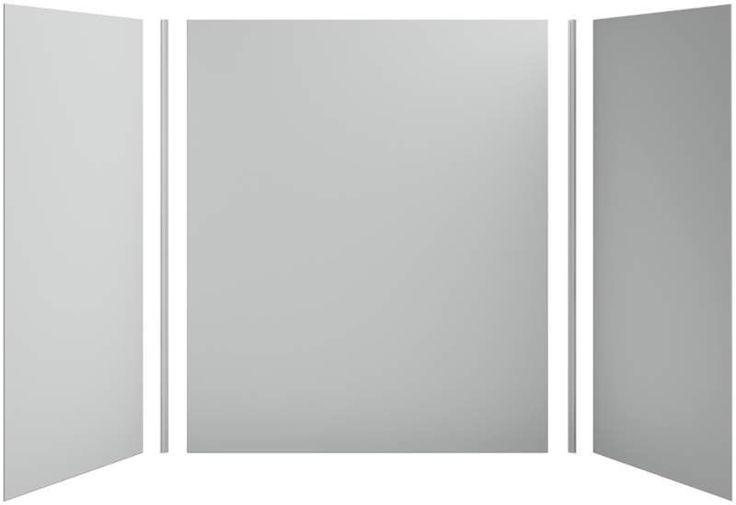 "Kohler K-97619 Choreograph 60"" x 36"" x 72"" Three Panel Shower Wall Kit Ice Grey Showers Shower Walls Wall Kit"