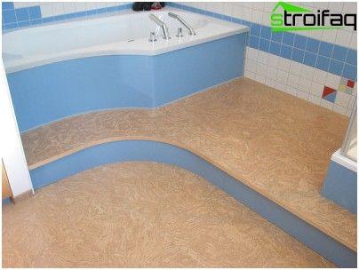 Option leggen kurkvloeren in de badkamer