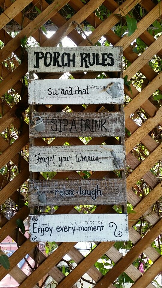 Porch Rules DIY