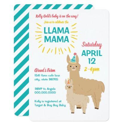 Llama Mama Baby Shower Invitation Farm Theme Zazzle Com Llama