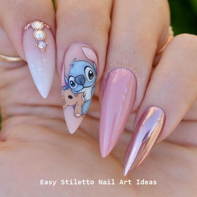 30 große Stiletto Nail Art Design-Ideen #nailart – #nageldesing – Nail Reading – Nails – Disney