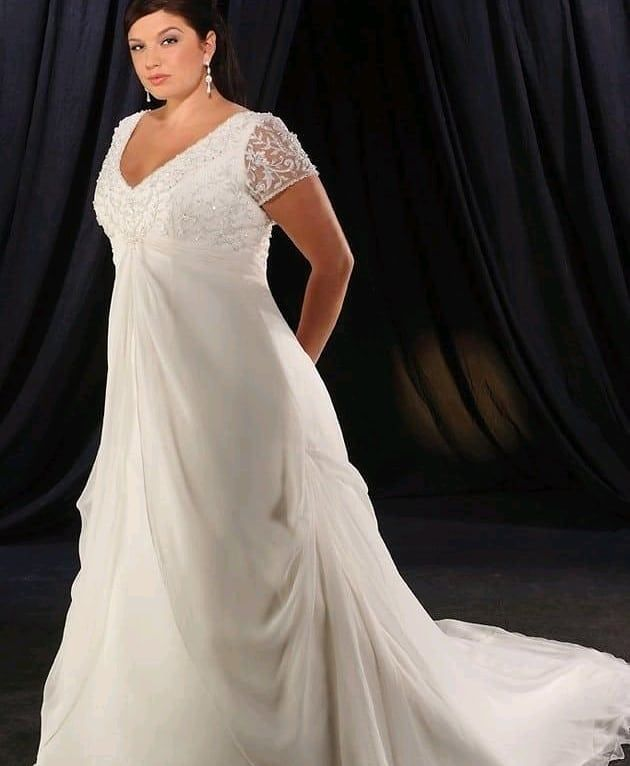 We Specialize In Custom Wedding Dresses For Fuller Sized Brides Our Made To Order Garments A Wedding Dress Organza Perfect Wedding Dress Plus Size Wedding