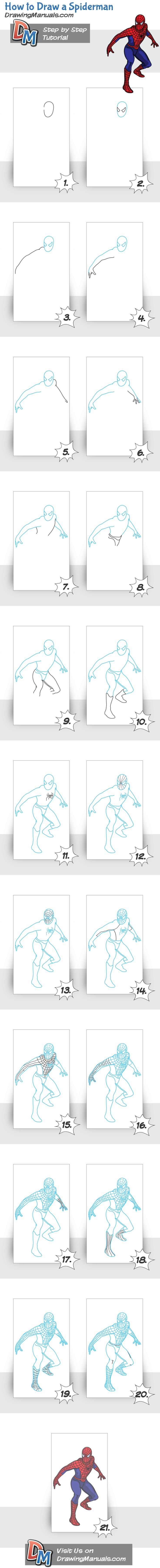 How to Draw Spiderman - Visit to grab an amazing super hero shirt now on sale!