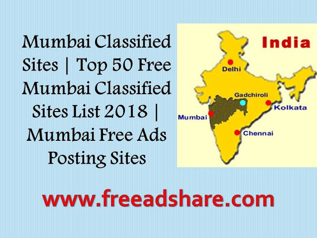 Top 50 Free Mumbai Classified Sites List 2018: Here is huge list of