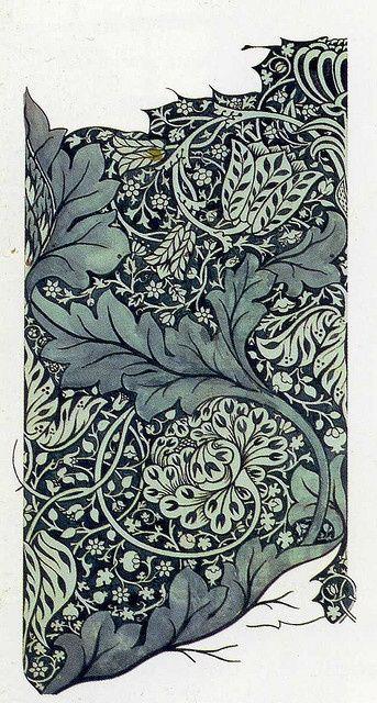 William Morris 'avon' 1886  'Avon' textile design by William Morris, produced by Morris & Co in 1886. #textile