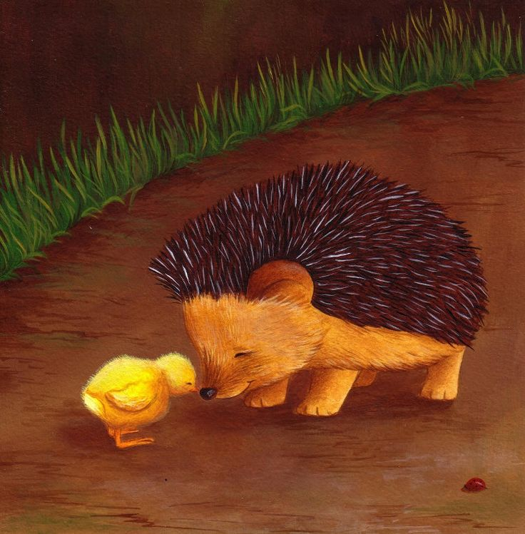 Hedgehog Nursery Art Best Friends print from an original acrylic illustration. £8.99, via Etsy.