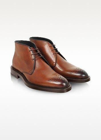 Boots aus Leder in braun - Fratelli Rossetti