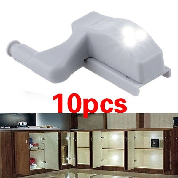 New Closet Automatic Led Hinge Light Closet Cabinet White Intelligent Induction Lamp Hinges For Cabinets Deco Furniture Cabinet
