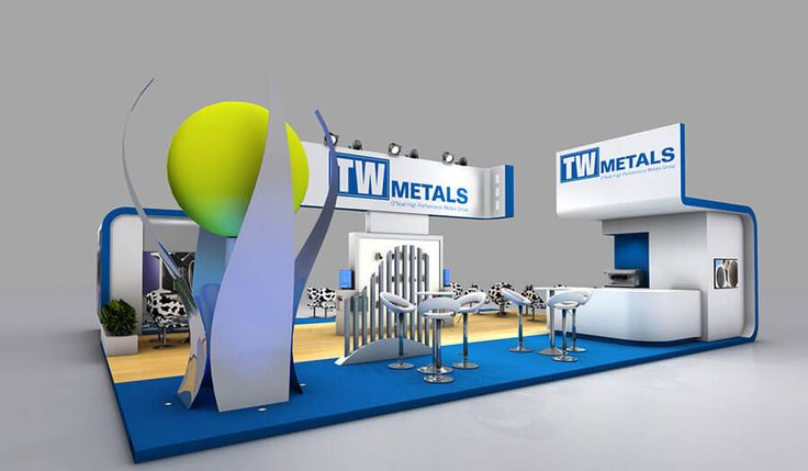 11 x 5 exhibition stand design for TW Metals