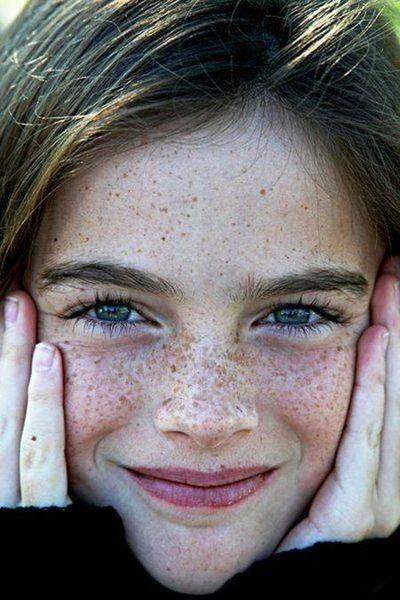Freckles Face Portrait   Portrait Her  Freckles -1990