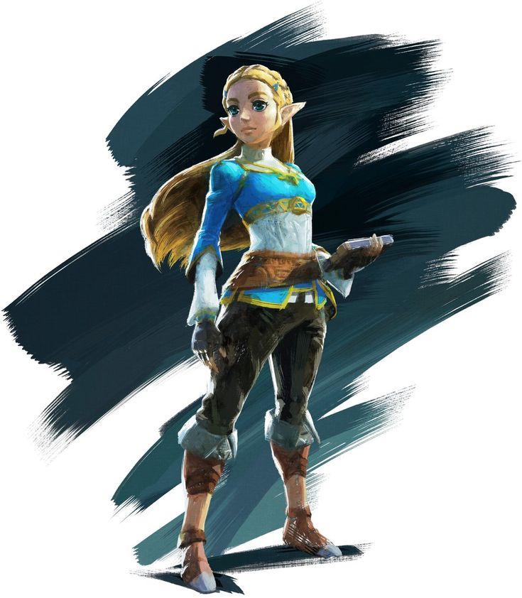While she's worn more than one outfit over the years, Princess Zelda's pink dress is her most well-known sartorial choice. In the new trailer for Breath of the Wild from last night's Nintendo Switch presentation, we got a closer look at Zelda's outfit in the game, as well as the Amiibo accompanying the game. She's in a blue top and pants, and while it's pretty huge departure from previous games, it looks awesome.