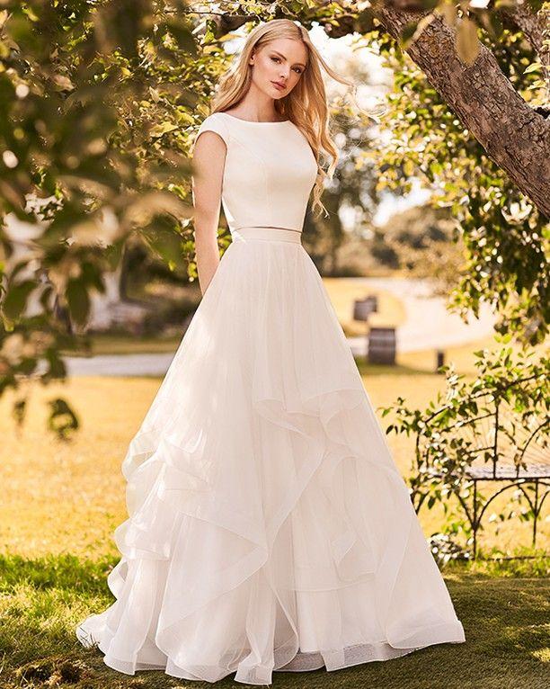 Mikaella Bride Two Piece Wedding Dress Wedding Dresses Mikaella Bridal