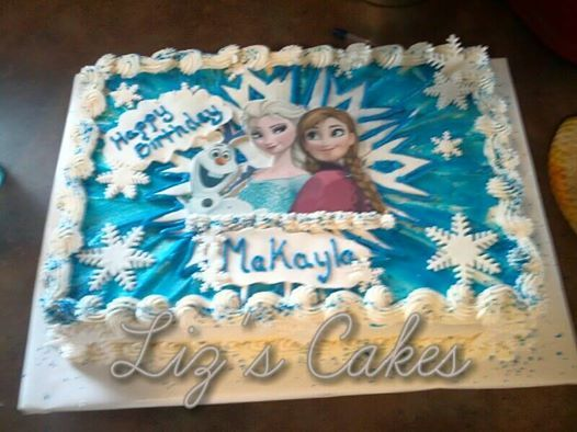 Frozen Sheet Cake Frozen Sheet Cake Frozen Birthday