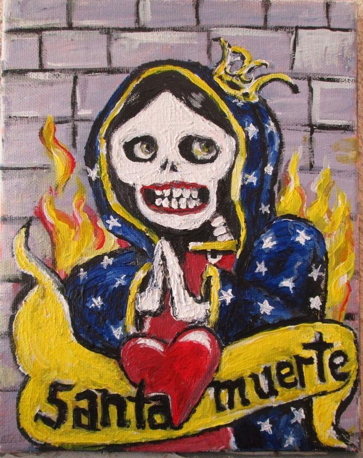 """Santa Muerte""   original art on canvas,  8""x10"" jack larson"