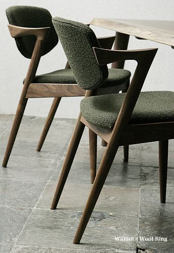 Kai Christiansen chaise de laine 1950 #pin_it #repine @mundodascasas www.mundodascasas.com.br