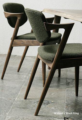 Kai Christiansen chaise de laine 1950