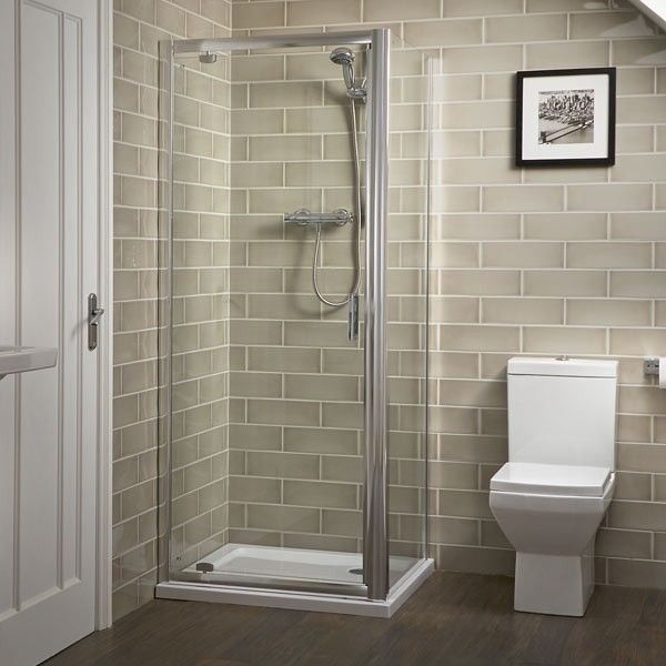 Aqualine 6mm 800 x 800 Pivot Enclosure with Shower Tray