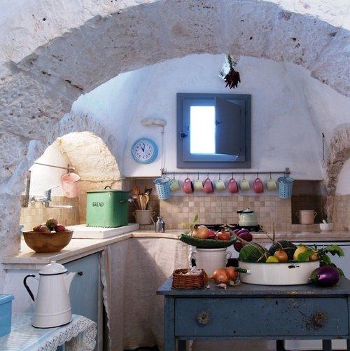 This is my kitchen in Trulli Mimosa find me on www.rentatrulli.com