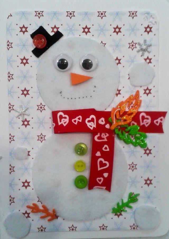 17 mejores ideas sobre tarjetas caseras en pinterest - Tarjeta de navidad para ninos manualidades ...