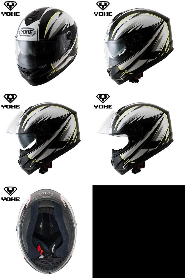 [Visit to Buy] YOHE YH-FF-966A hot sale Helmet Moto Motorbike capacete Helmet dual visor Unisex Motorcycle Full face Helmet #Advertisement