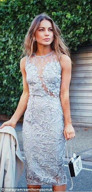 Who wore it better? Louise Thompson, 26, shared a stunning shot clad in a lace grey dress ...