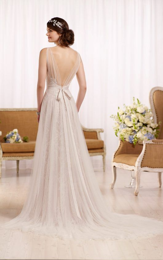 D2120 Tulle wedding dress with Diamante beading by Essense of Australia