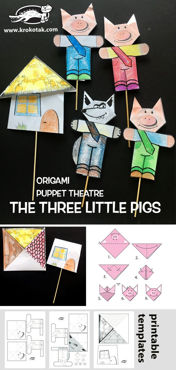 THE THREE LITTLE PIGS – ORIGAMI PUPPET THEATRE