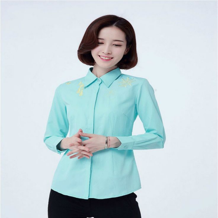 Lossky Spring New Solid Color Long-Sleeved Women's Blouses Female Wild Bottoming Shirt OL Office Ladies Shirt  Women's Business