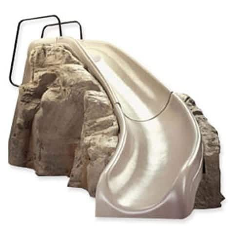 The Interfab Slide Rock is in stock and ready to ship! The swimming pool Slide Rock can be sold separately or added to pool kits sold by Pool Warehouse!