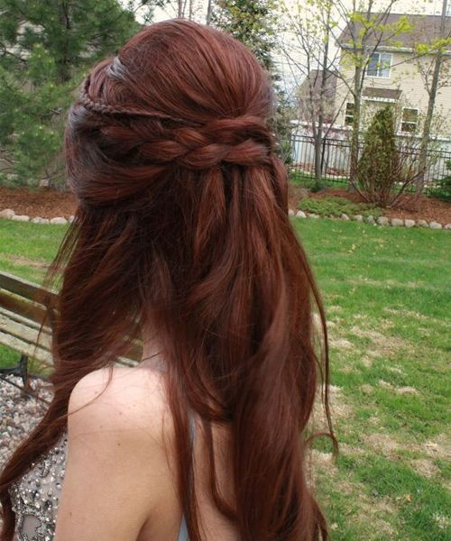 Long Half Up Hairstyles for Prom