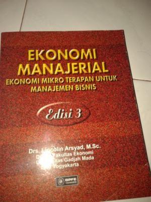 Ekonomi Manajerial. Pengarang: Lincolin Arsyad