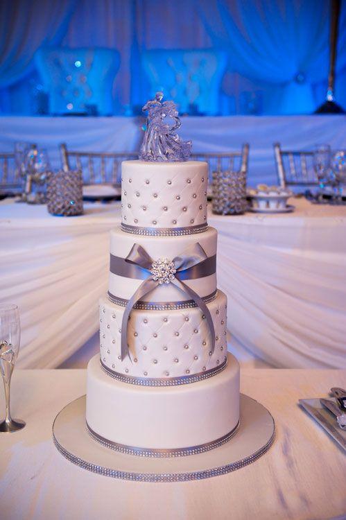 A Elegant Winter Wedding In Vaughan Ontario WeddingWhite CakesWhite WeddingsCake Topper