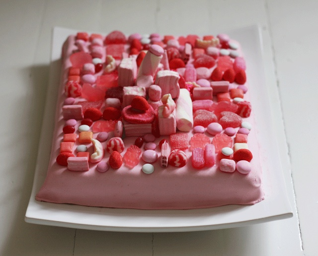 sweet over-the-top cake