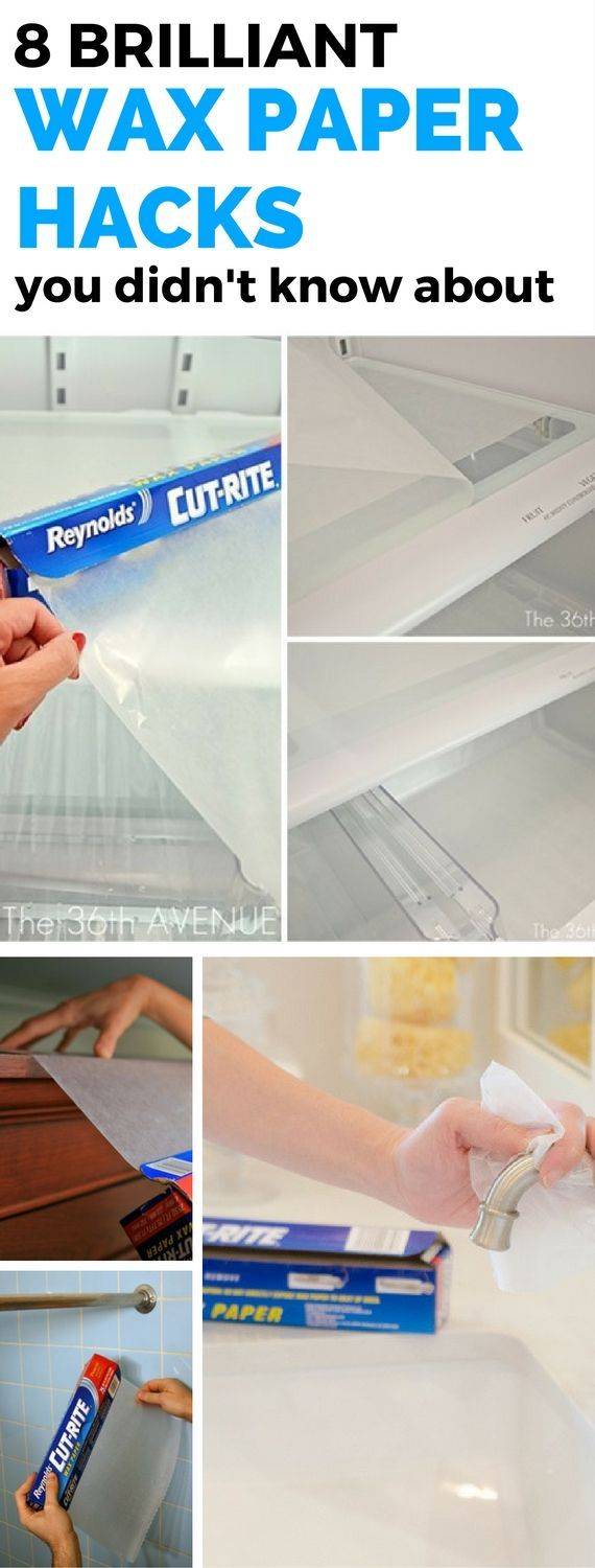 8 Awesome Wax Paper Hacks that will help you a ton around the house! Who knew wax paper could be more than just covering food with? Totally blown away!
